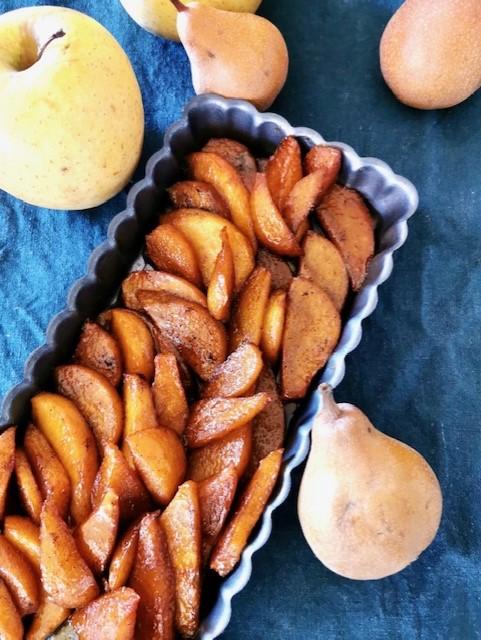Tarte tatin pommes – poires