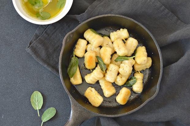 Gnocchi au beurre de sauge